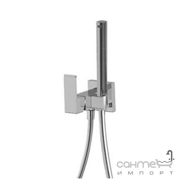 Смесители Tres  Гигиенический душ и рычаг для биде/туалета встраиваемый Tres Slim-Tres 006.123.01 Хром