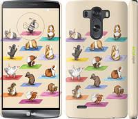 """Чехол на LG G3 dual D856 Йога морских свинок """"2811m-56"""""""