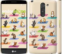 """Чехол на LG G3 Stylus D690 Йога морских свинок """"2811m-89"""""""