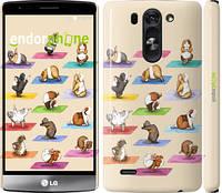 """Чехол на LG G4 Stylus H540 Йога морских свинок """"2811u-242"""""""