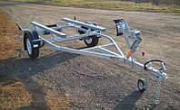 Прицеп - лафет для перевозки надувной пвх лодки до 3,2 м (эконом)