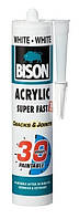 BISON ACRYLIC 30 MIN WHITE 300 ml - быстросохнущий акриловый герметик (белый)