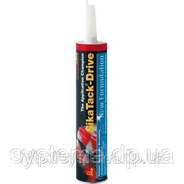 SikaTack®-Drive (New Formulation) - полиуретановый клей для замены автомобильных стекол, черный, 300 мл