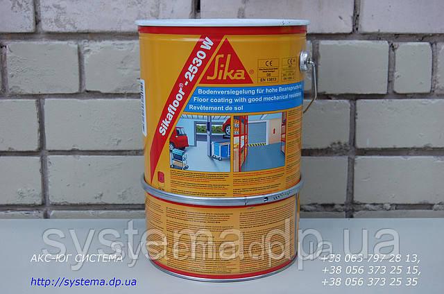 Цветное эпоксидное покрытие для Вашего гаража Sikafloor®-2530 W, Зеленая резеда VERDE RESEDA, RAL 6011, 6 кг