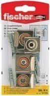 Fischer SKL M - Комплект для крепления зеркал, хром