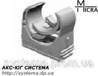 Micra - пластиковый защелкивающийся держатель для труб 18,5 - 22,5 мм
