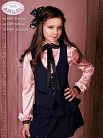 Юбка из костюмной ткани Baby Angel 680, цвет синий