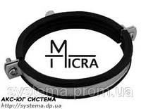 Хомут Micra 21-25 мм - стальной с вкладышем epdm для трубопроводов