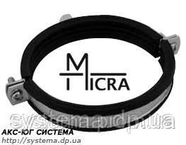 Хомут Micra 74-80 мм - стальной с вкладышем epdm для трубопроводов