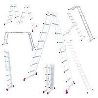 LT-0029 Лестница алюминиевая мультифункциональная трансформер 4*4ступ. 4.75м