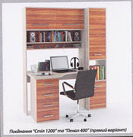 """Компьтерный стол """"Ровесник 1200""""+пенал 400"""