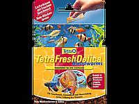 Tetra FreshDel Blood Worms (мотыль) 48г - лакомство в виде желе для рыб