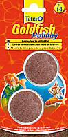 Tetra Gold fish Holiday 2х12гр - корм выходного дня для аквариумных рыбок