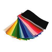 Образцы корейского мягкого фетра 1.2 мм, 10х5 см, 34 цвета