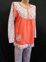 Женские пижамки с рюшами внизу и на рукавах, фото 1