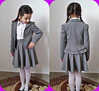 Школьный серый пиджак для девочки, фото 1
