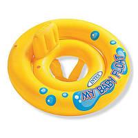 """Надувной круг со спинкой и трусиками INTEX 59574 """"My Baby Float """" (67 см), фото 1"""