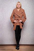 Женское пальто весеннее большого размера Д 38 пп Люкс
