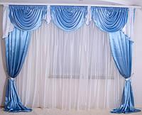 Готовые шторы и ламбрекен, фото 1