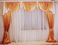 Дешевые шторы в комплекте, фото 1