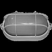 Светильник баня-сауна НББ 60вт IP54 Овал с решеткой Е27 белый ST295-1