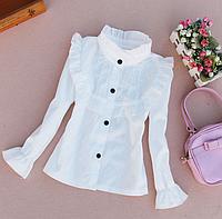 Біла блузка для дівчаток-школярок