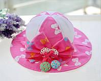 Шляпка детская с бантиком.
