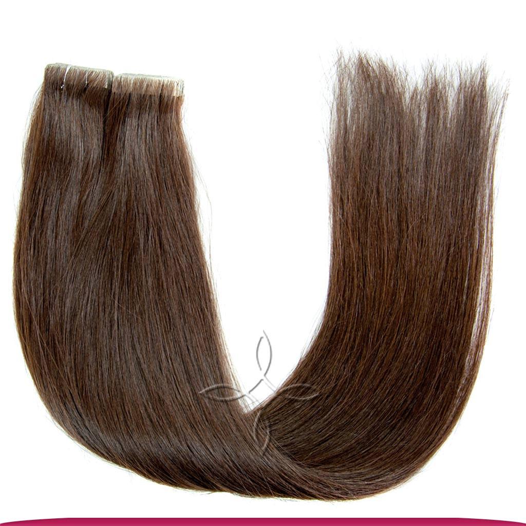 Волосы на Лентах с Иммитацией Роста Волос 45-50 см 100 грамм, Шоколад №03