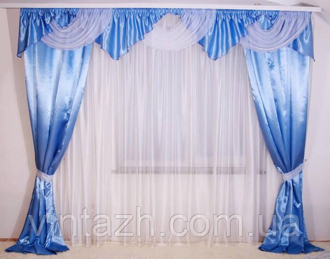 Готовые шторы с ламбрекеном