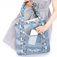 Летняя сумочка для пляжа голубая