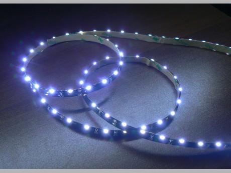 Светодиодная лента бокового свечения 335-60 W IP65 белый черная плата, герметичная, 5метров