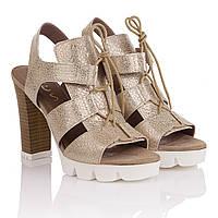 Стильные босоножки женские Nessi (на высоком каблуке, оригинальный дизайн, стильные, модные)