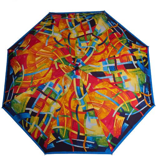 Яркий разноцветный женский зонт полуавтомат AIRTON (АЭРТОН) Z3615-94 Антиветер