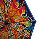 Яркий разноцветный женский зонт полуавтомат AIRTON (АЭРТОН) Z3615-94 Антиветер, фото 3