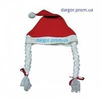 Шапка с косичками снегурочки товар по предоплате