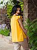 Женская шифоновая блуза без рукавов, горчичного цвета Селена, фото 2