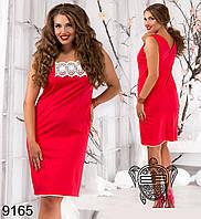 Летнее платье с кружевом из льна