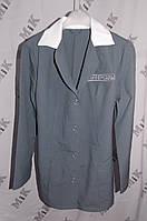 Блуза женская, рубашка с коротким рукавом с логотипом, ткань габардин