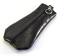 Прочная кожаная мужская ключница на молнии Б/Н art. Б/Н ключница кожа black (100073), фото 1