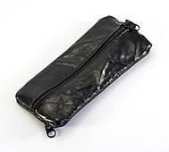 Удобная кожаная мужская ключница на молнии ключница кожа кольцо (100873)
