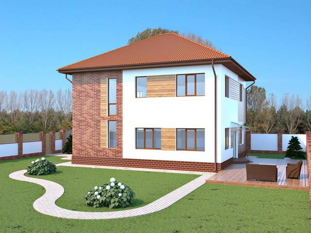 Визуализация бокового фасада