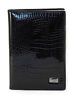Прочная докуметница-унисекс со змеинным принтом HELEN art. 2104-A79 black