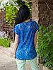 Женская шифоновая блуза с гипюровой спинкой, Милочка СИНЯЯ, фото 2