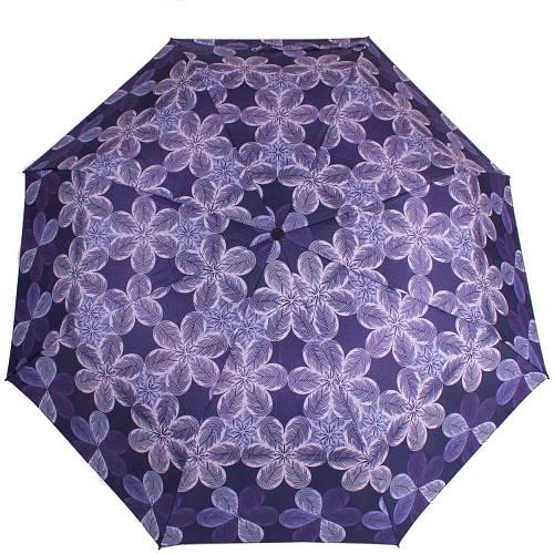 Зонт женский синий полуавтомат AIRTON (АЭРТОН) Z3615-99 Антиветер