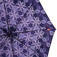 Зонт женский полуавтомат AIRTON Z3615-99 синий антиветер, фото 3