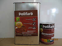 Пропитка по дереву Полифарб 0,7 кг Антисептическая, Polifarb, 0.1, 7.0, Деревянная, 0.7, сосна