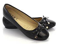 Женские балетки звездочка черный, фото 1