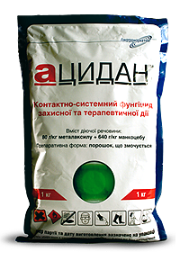 Фунгицид/фунгіцид  Ацидан аналог Ридомил Голд металаксил 80 г/кг + манкоцеб 640 г/кг, для картофеля, овощных, фото 2
