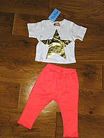 """Детский стильный костюмчик для девочки """"Звезда"""": футболка и штаны (4 цвета)"""