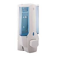 Potato Пластиковый одинарный настенный дозатор(сине-белый)380ml. P403